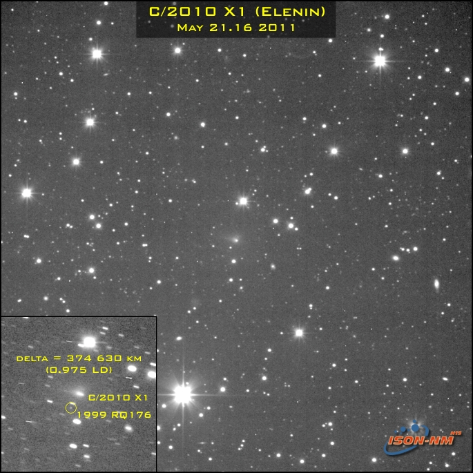 Perhaps the closest approach of comet Elenin to a Main ...
