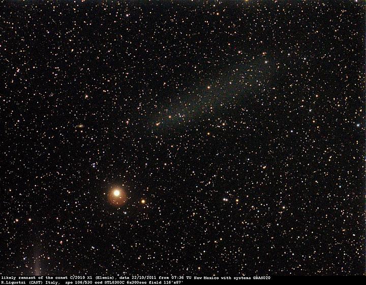 Elenin, primicia primera imagen del cometa desintegrado